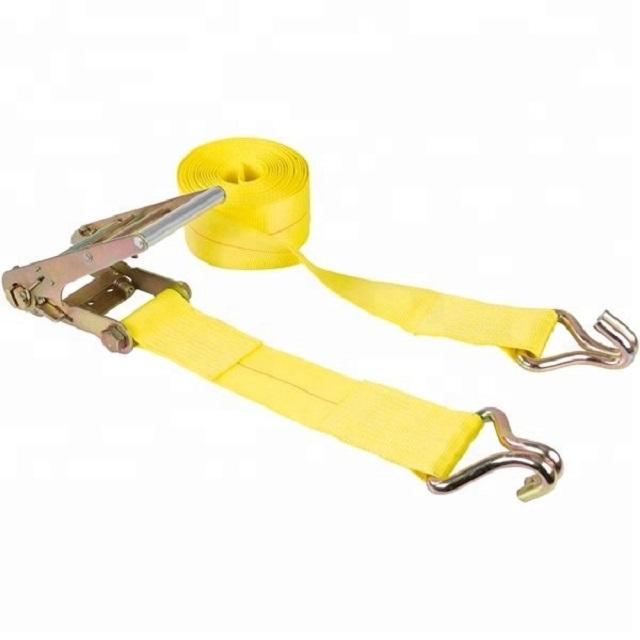 Dây đai ràng hàng có tăng đơ màu vàng