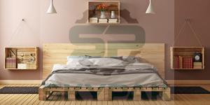 pallet gỗ thông làm giường